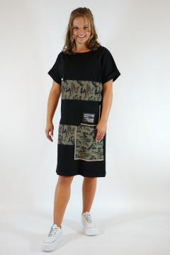 Jerseyjurk SNT zwart - legerprint