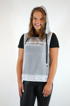 T-shirt Avemaria zwart - wit