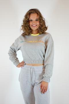 Sweater kort grijs