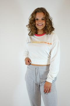 Sweater kort wit