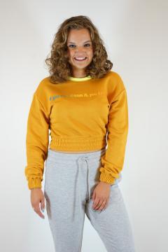 Sweater kort bruin