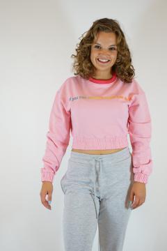 Sweater kort lila
