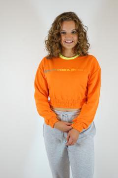 Sweater kort oranje