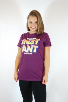 T-shirt instant bordeaux