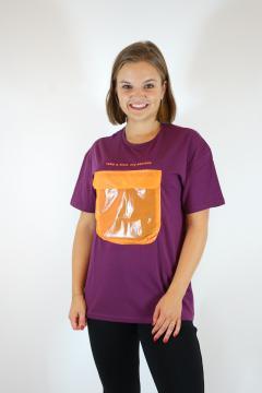 T-shirt secret paars