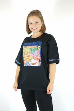 T-shirt oldies zwart