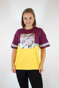 T-shirt animatie paars - geel