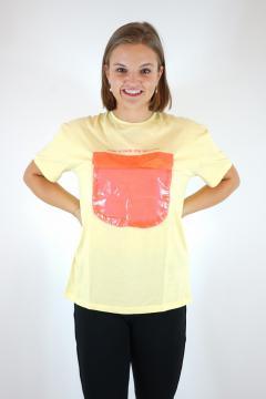 T-shirt secret geel