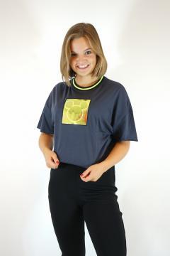 T-shirt mickey grijs