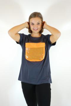 T-shirt secret grijs