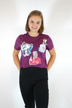 T-shirt born bordeaux