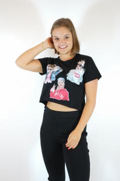 T-shirt born zwart