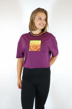 T-shirt mickey bordeaux