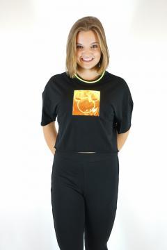 T-shirt mickey zwart