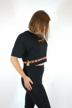 T-shirt advanced zwart