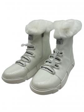 Boots wit met veter