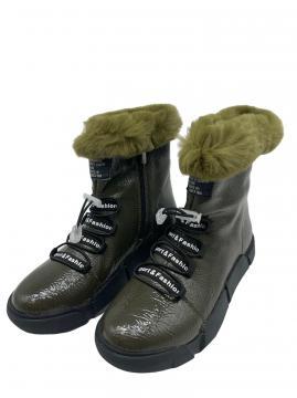 Boots groen met veter