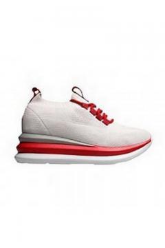 Sneaker wit rode veter