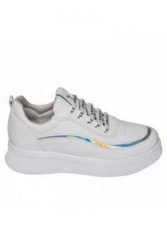 Sneaker wit - zilver