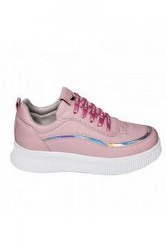 Sneaker roze - zilver