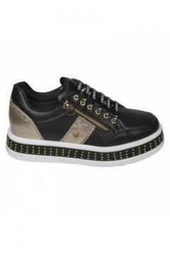 Sneaker zwart - goud