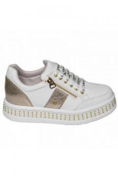 Sneaker wit - goud