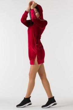 Sweatjurk Sonesta Velours rood