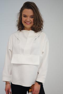Sweater met capuchon wit