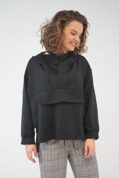 Sweater met capuchon zwart