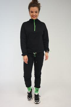 Vrijetijdspak - joggingpak Sonesta zwart - groen