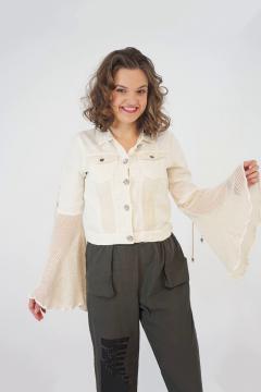 Kort jasje met flared mouwen