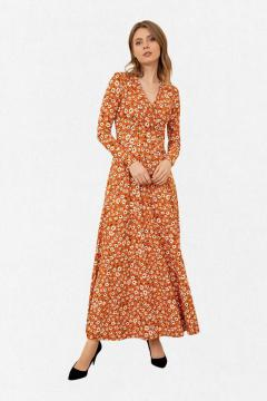 Jurk La Pèra Zenne bloemetjes oranje