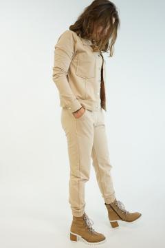 3 Delige Set  broek jasje shirt beige