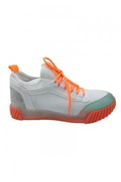 Sneaker Trendy wit - oranje