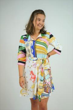 Blouse jurk La Pèra met gekleurde print