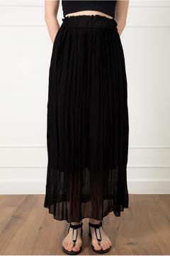 Zwarte chiffon rok