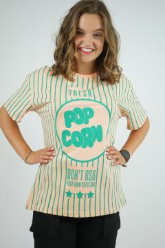 T-shirt popcorn zalm