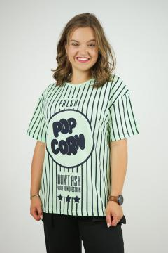 T-shirt popcorn groen