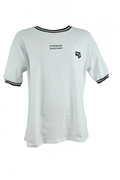 T-shirt La Pèra wit met zwart