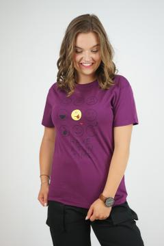 T-shirt smiley bordeaux