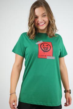 T-shirt look my groen