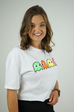 T-shirt PKM wit