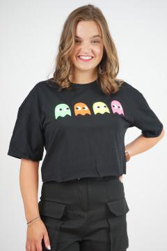 T-shirt PKM zwart